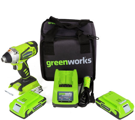 Greenworks G24 24V 2 Speed Hammer Drill w/ batteries & charge