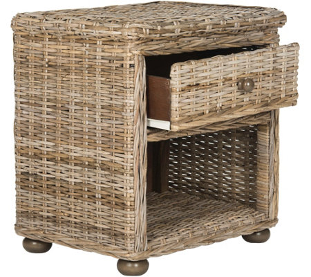 Lagos Wicker One-Drawer Nightstand by Valerie