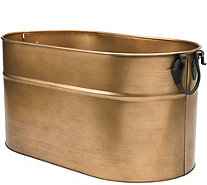 Plow & Hearth Large Copper-Finished Firewood Bucket - H291436