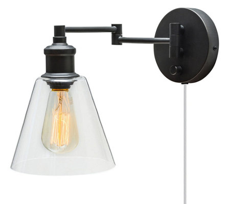 Globe Electric LeClair One Light Plug-in/Hardwire Wall Sconce