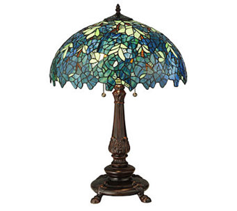 "Tiffany Style 26""H Nightfall Wisteria Table Lamp - H355936"