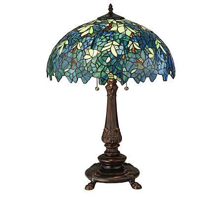 "Tiffany Style 26""H Nightfall Wisteria Table Lamp"