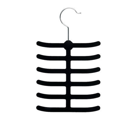 Honey-Can-Do 20-Pack Velvet Touch Tie & Belt Hanger - Black