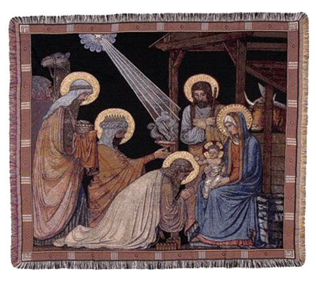 Adoration of the Magi Throw