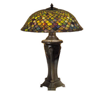 "Tiffany Style 30"" Fish Scale Table Lamp - H122437"