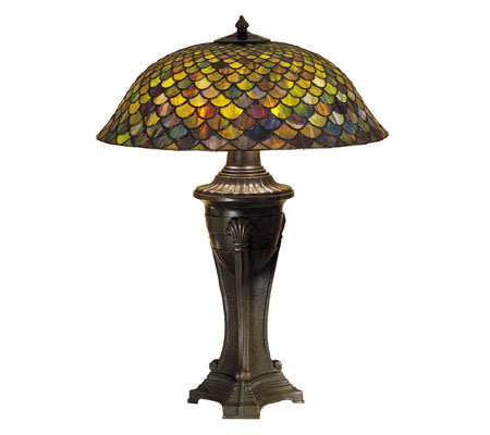 "Tiffany Style 30"" Fish Scale Table Lamp"