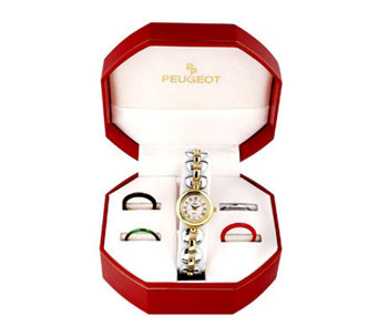 Peugeot Women's Five Interchangeable Bezels Watch Gift Set - H157537