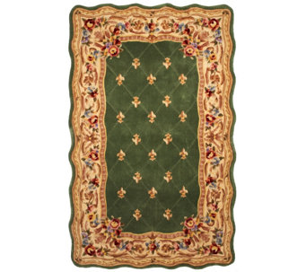 Royal Palace Fleur De Lis Scallop 5' x 8' Wool Rug - H202337