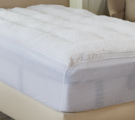 Flortentine Quilted Twin Fiber Filled Mattress Topper