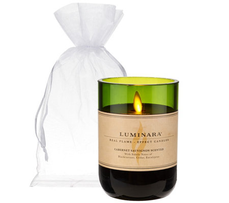 Luminara Flameless Candle in Wine Bottle with Gift Bag