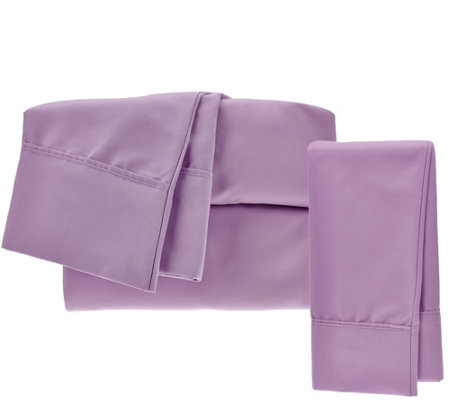 Serta SuperSoft Microfiber Full Sheet Set with Nanotex and Extra Cases