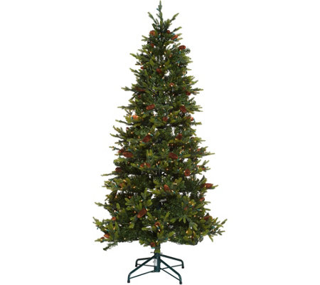 """As Is"" Bethlehem Lights 7.5' Heritage Spruce Christmas Tree"