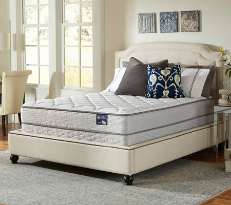Serta Glisten Plush Twin Mattress Set