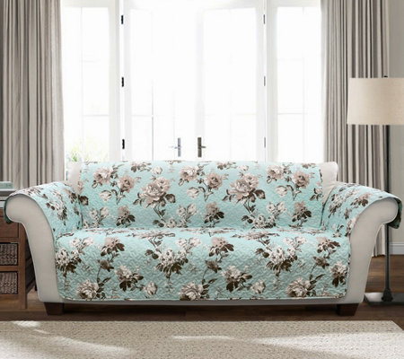 Tania Floral Love Seat Furniture Protector by Lush Decor