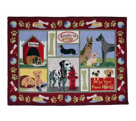 Dog Days 19x27 Tapestry Rug