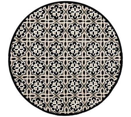 Safavieh Four Seasons 6' Diam Round Rug Indoor/Outdoor