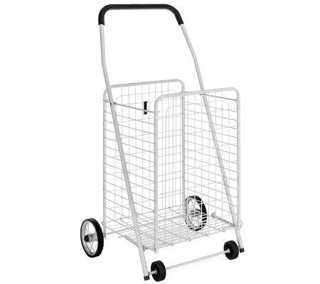 Whitmor Rolling Utility Cart White — QVC.com