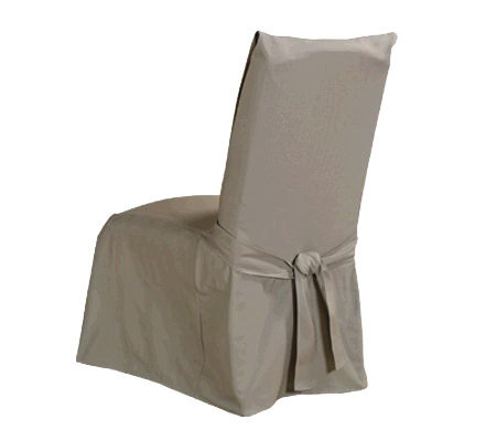 Sure Fit Duck Solid Dining Room Chair Slipcover