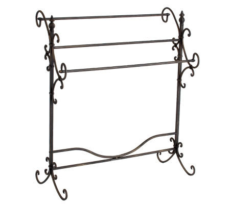 Black Iron Quilt Rack