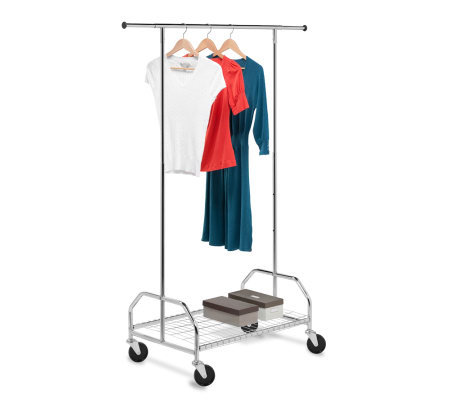 Honey-Can-Do Bottom-Shelf Garment Rack