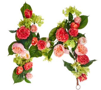 4' Rose, Hydrangea and Tulip Garland - H208038