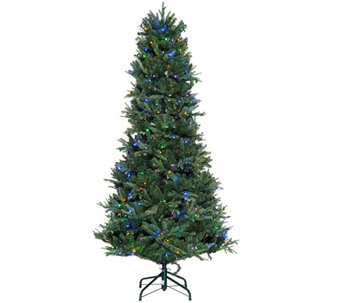 ED On Air Santa's Best 9' Blue Royal Spruce Tree by Ellen DeGeneres - H209438