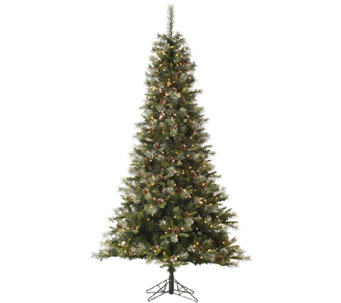 7.5' Iced Sonoma Spruce Tree w/ Dura-Lit Lights by Vickerman - H285438