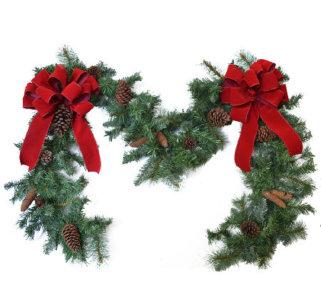 9' Christmas Garland by Valerie