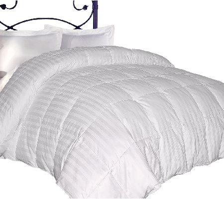 Blue Ridge 350TC Damask Stripe Down Twin Comforter