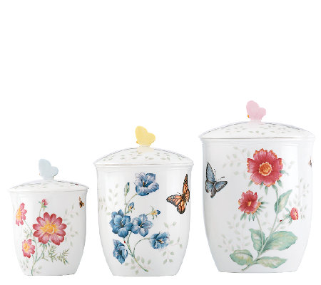 Lenox Butterfly Meadow Set of 3 Canisters