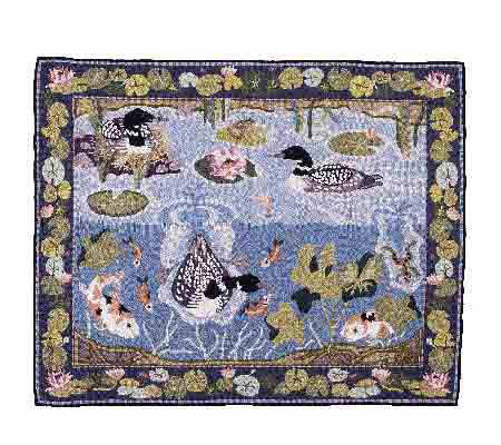 Claire Murray Loon Pond 4 X5 Handhooked Wool Rug Qvc Com