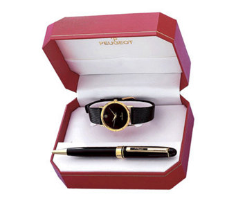 Peugeot Men's Watch Gift Set with Black Pen - H157539