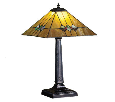 Tiffany-Style Martini Mission Table Lamp