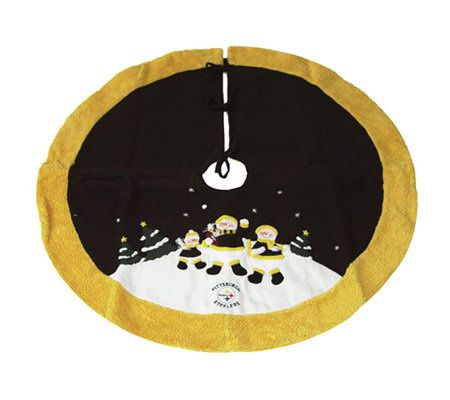NFL Pittsburgh Steelers Snowman Tree Skirt — QVC.com