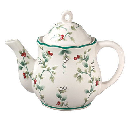 Pfaltzgraff Winterberry Sculpted Teapot - 4 Cup