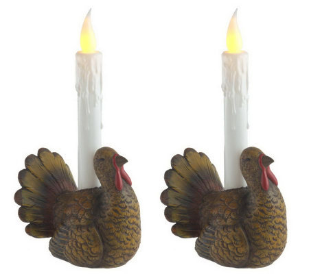 Bethlehem Lights Set/2 Harvest Novelty Candles & Timers