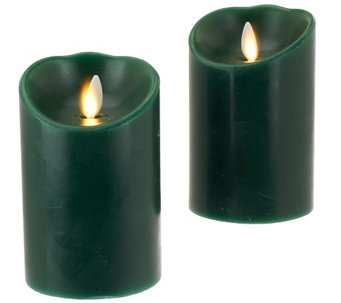 "Luminara S/2 3x4"" Holiday Flameless Candles with Timers - H203239"