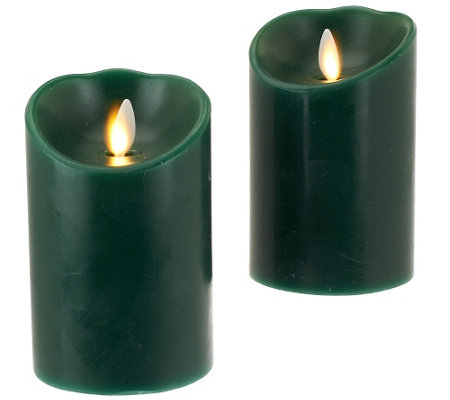 "Luminara S/2 3x4"" Holiday Flameless Candles with Timers"