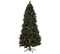 Temp-tations Frosted Spruce LED Tree with Convertible Sizing - H205639