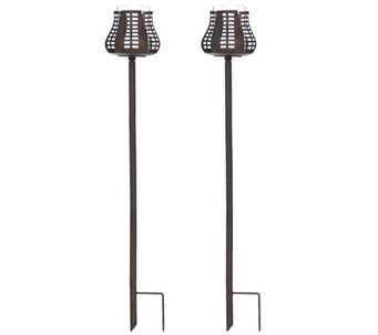 ED On Air Set of 2 Pathway Garden Stakes by Ellen DeGeneres - H208239