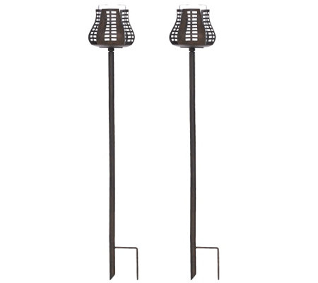 ED On Air Set of 2 Pathway Garden Stakes by Ellen DeGeneres