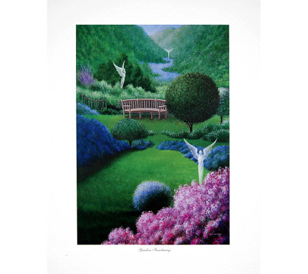 Garden Sanctuary Print by Artist of Hope, Steven Lavaggi