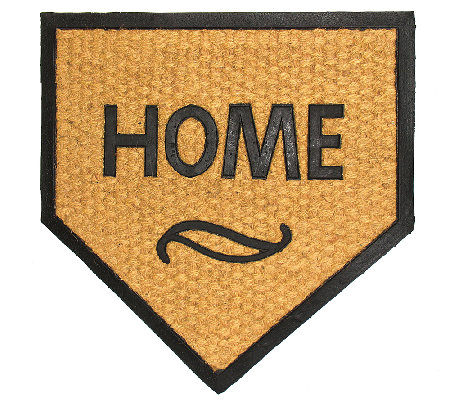 Geo Crafts Flat WeaveTuffcor Home Plate Door Mat