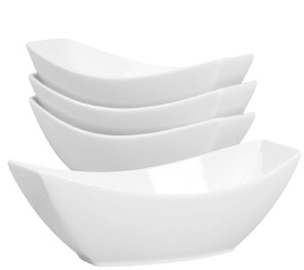 Denmark Tools for Cooks S/4 Boat-Shaped Individual Serve Bowl - H284139