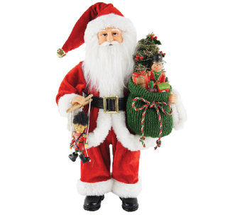 "15-1/2"" Bag Full of Toys Santa by Santa's Workshop - H287339"