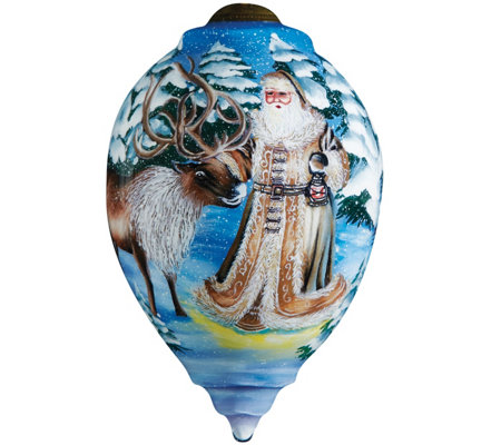 Santa's Deer Friend Ornament by Ne'Qwa
