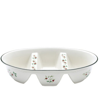 Pfaltzgraff Winterberry Three-Section Divided Serve Bowl - H289939