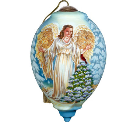 Winter Forest Angel Ornament by Ne'Qwa