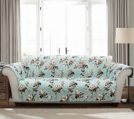 Tania Floral Sofa Furniture Protector by Lush Decor
