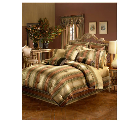 Croscill Carrington Stripe King Comforter Set